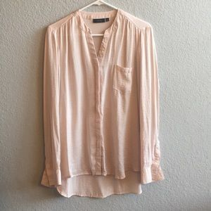 APT 9 Dusty Rose Long Sleeve HI/LO blouse size XL